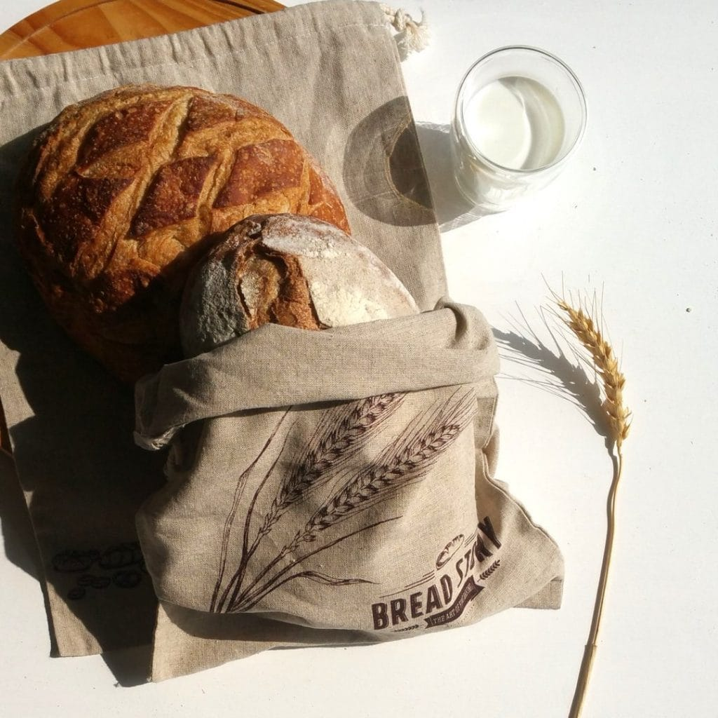 Cotton linen bread bag