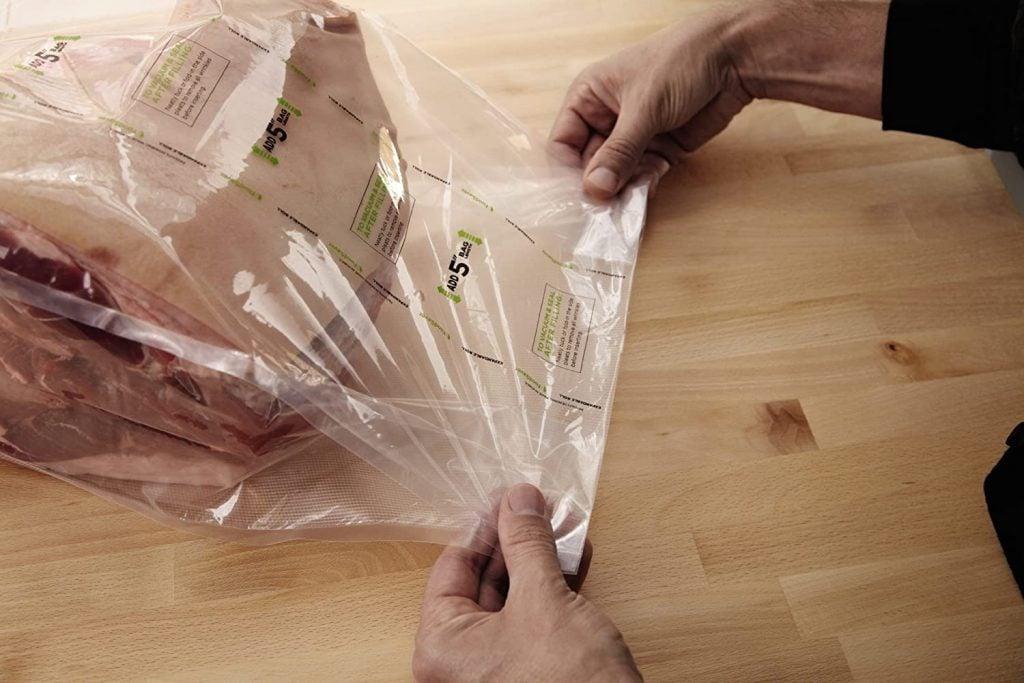 Large side pleated vacuum sealer bag