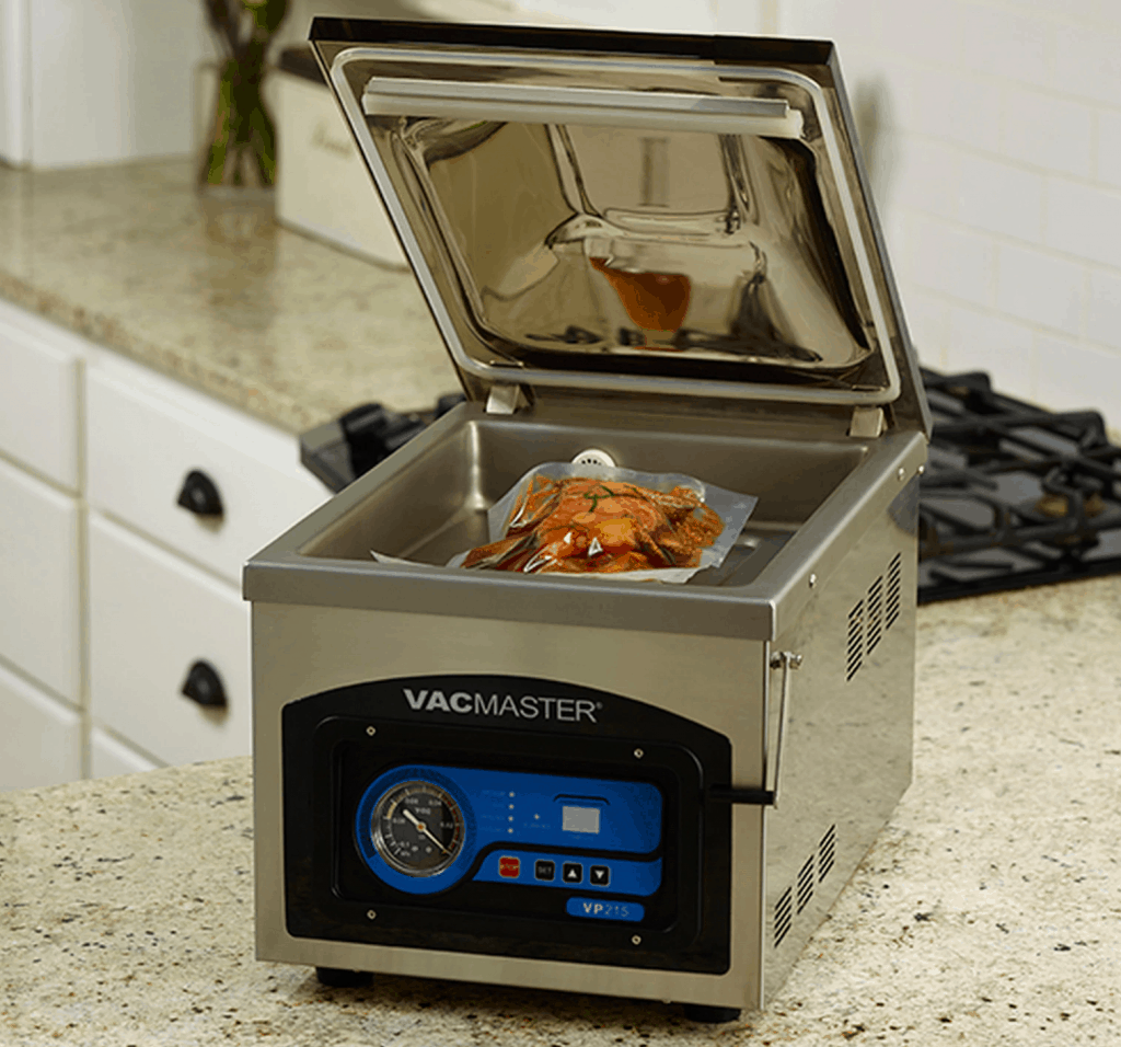 VacMaster VP215 with vacuum food pouch
