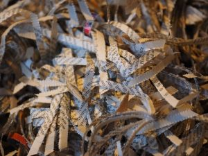 Shredded paper for worm farm bedding